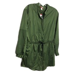 Hunter for Target Olive Satin Zip Romper S NWT